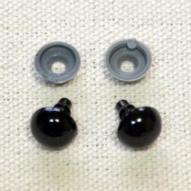 10 ojos de seguridad para amigurumis, 10mm – negro