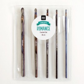 Set agujas de ganchillo DROPS PRO ROMANCE (Madera decorada)