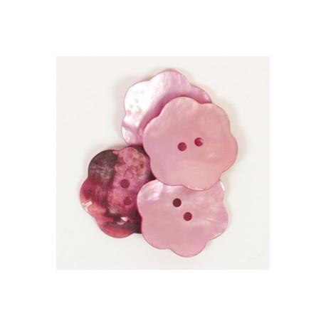 DROPS Nácar flor rosa 25 mm Ref. 603