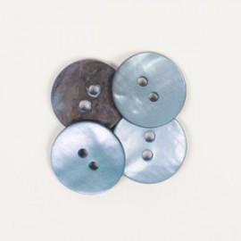 DROPS redondo nácar azul 15 mm Ref. 621