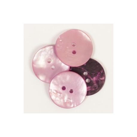 DROPS redondo nácar rosa 20 mm Ref. 608