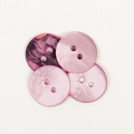 DROPS redondo nácar rosa 15 mm Ref. 622