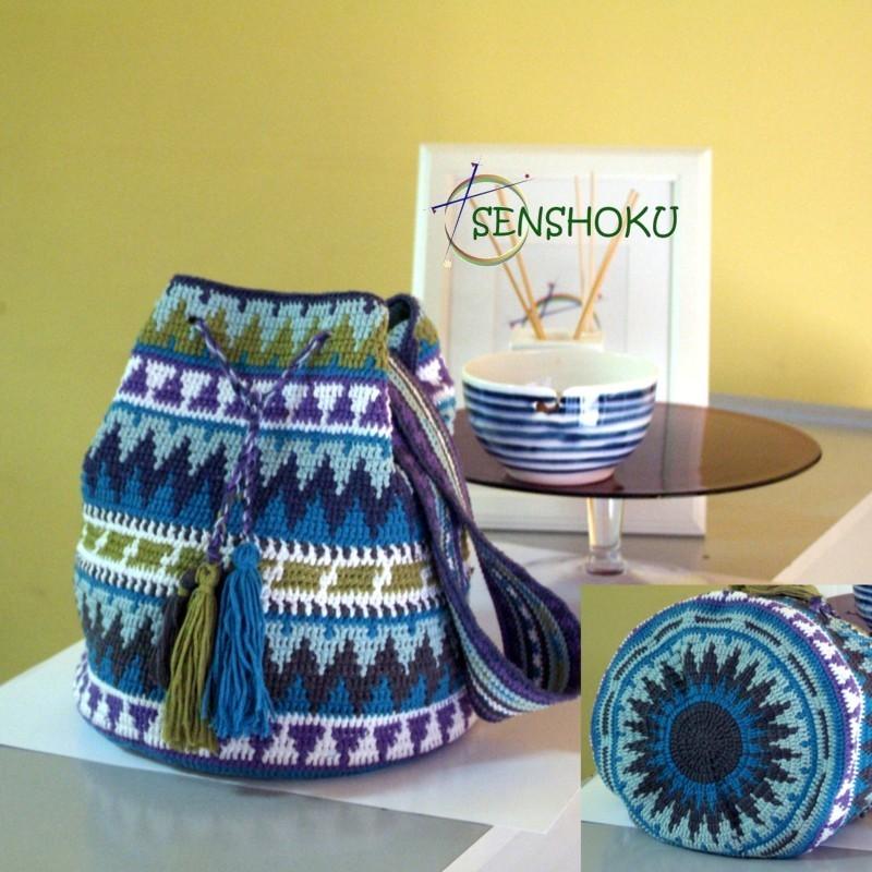 Senshoku - Patrón mochila Wayuu Wheel
