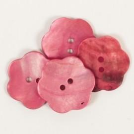 DROPS flor nácar rojo 25 mm Ref. 604