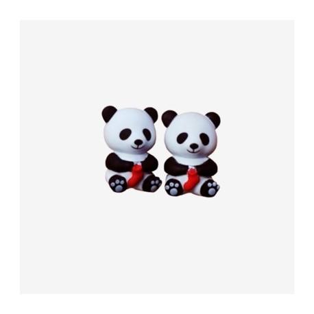 Protectores punta agujas panda pequeños HiyaHiya