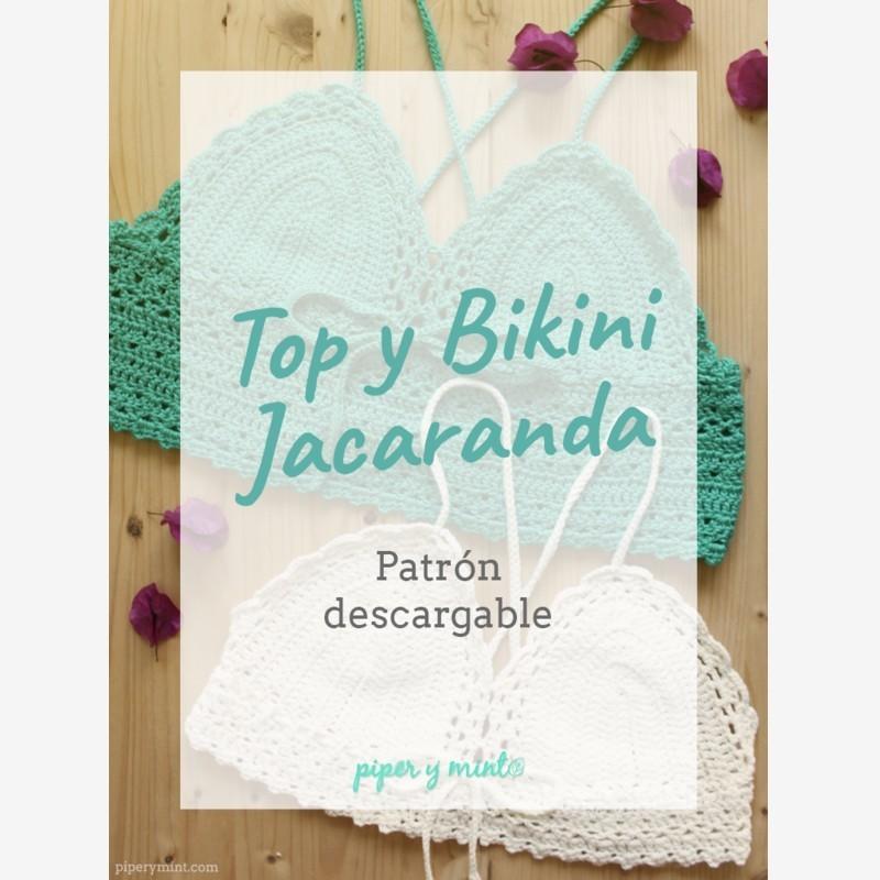Patron descargable en formato PDF para elaborar el bikini o top ...