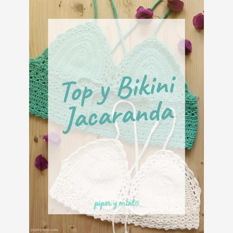 Senshoku - Kit Top/Bikini Jacaranda, diseño de @piperymint en crochet