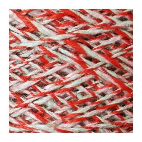 Lino Flamé 3 cabos C2 - mint-coral-rosa palo