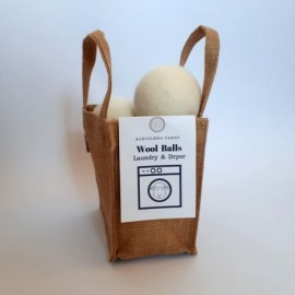 Kit de 3 bolas lavado/secado en bolsa de yute