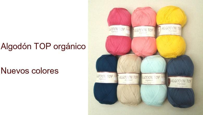 Nuevos colores algodón TOP orgánico